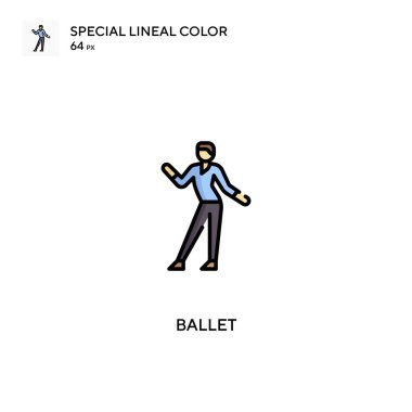 Ballet Special lineal color icon.Ballet icons for your business project