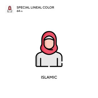 Islamic Special lineal color icon. Illustration symbol design template for web mobile UI element.