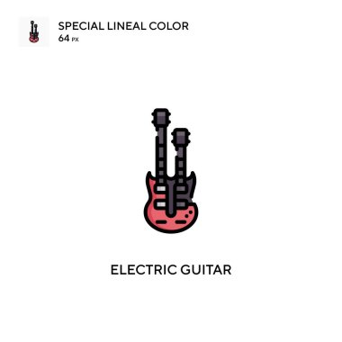 Electric guitar Special lineal color icon. Illustration symbol design template for web mobile UI element.