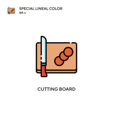 Cutting board Special lineal color icon. Illustration symbol design template for web mobile UI element.