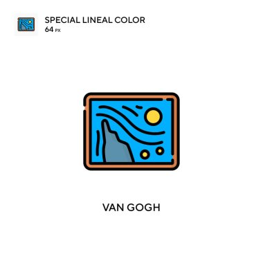 Van gogh Special lineal color icon. Illustration symbol design template for web mobile UI element.