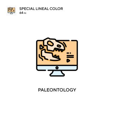 Paleontology Special lineal color icon. Illustration symbol design template for web mobile UI element. Perfect color modern pictogram on editable stroke.