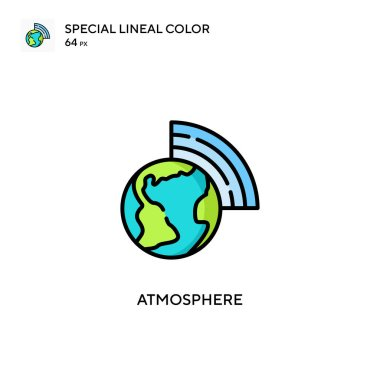 Atmosphere Special lineal color icon. Illustration symbol design template for web mobile UI element. Perfect color modern pictogram on editable stroke.
