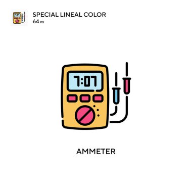 Ammeter Special lineal color icon. Illustration symbol design template for web mobile UI element. Perfect color modern pictogram on editable stroke.