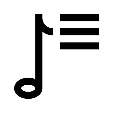 Note Music icon, vector illustration