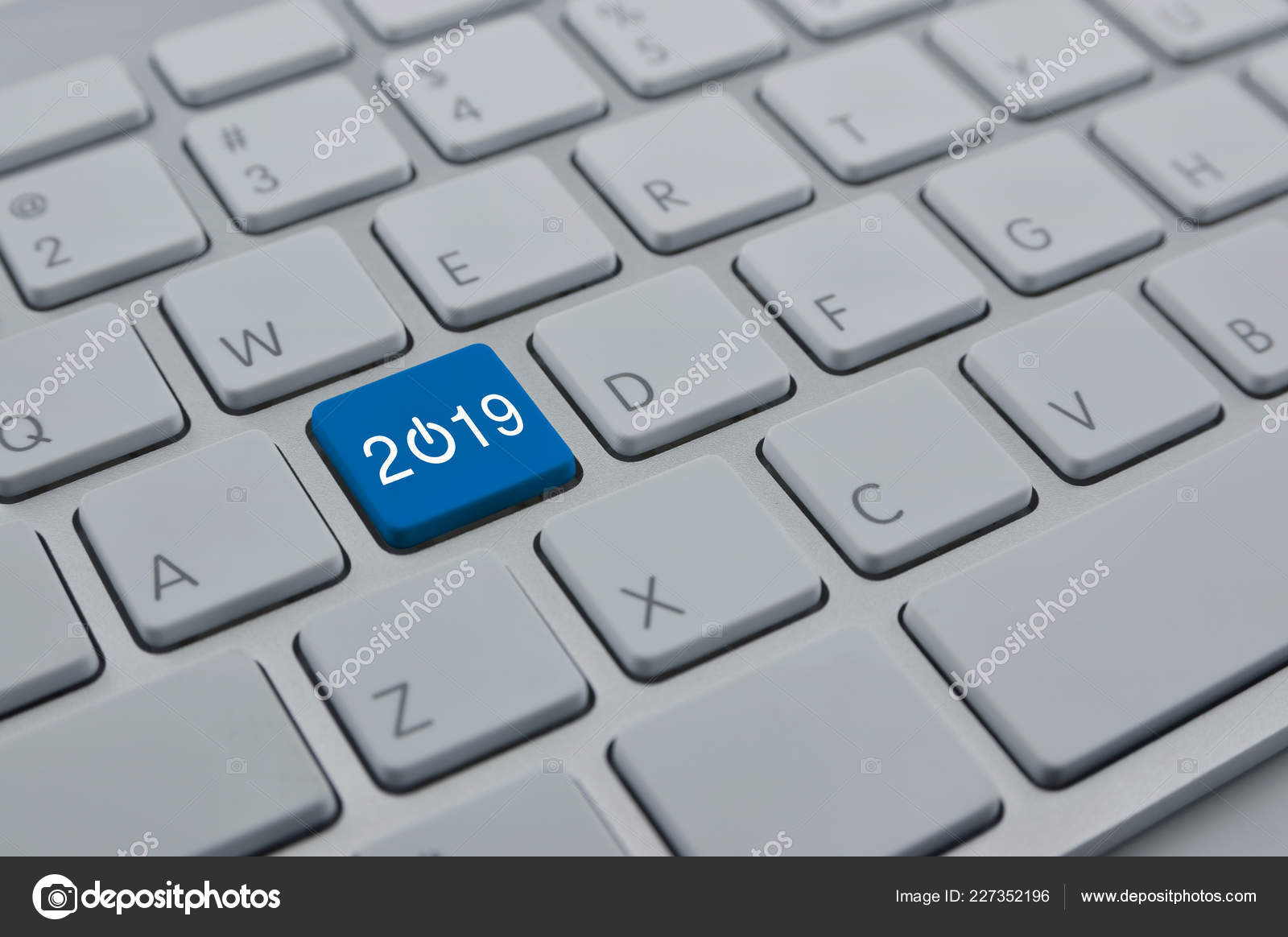 2019 Start Business Icon Modern Computer Keyboard Button