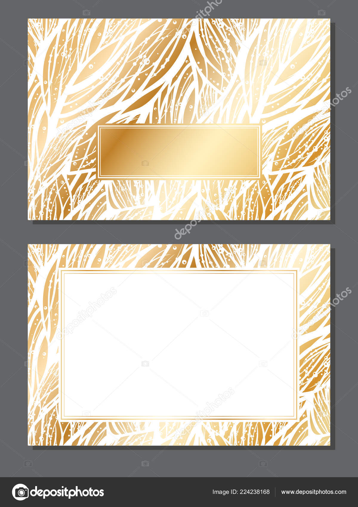 Luxury Invitation Card Empty Space Your Text Wedding Christmas