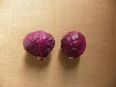 Small raw whole Red color cabbage