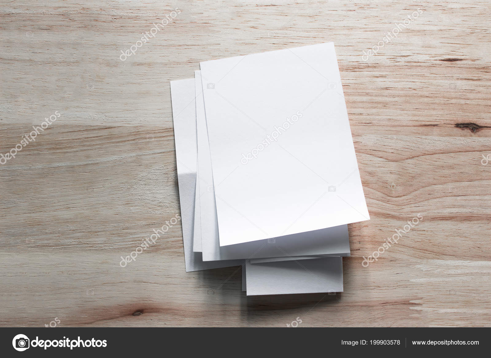 blank portrait mock paper brochure magazine isolated brown wooden