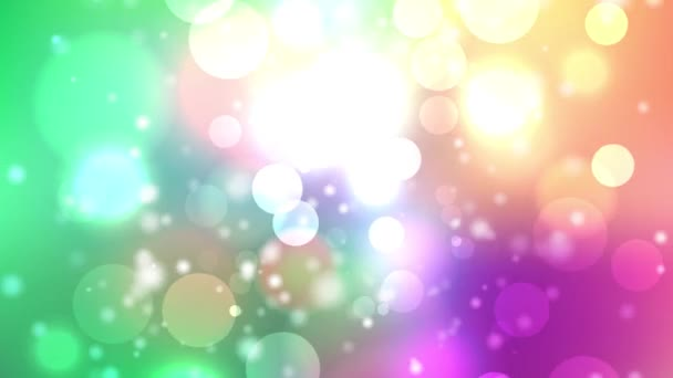 bunte Kreise Video Hintergrund abstrakte Bokeh-Bewegung