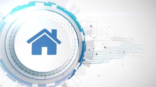 domů dům con animace bílé digitální prvky technologické zázemí