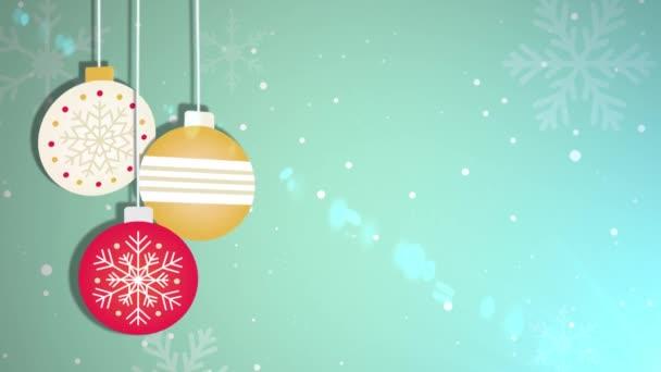 Animovaný pohybující cetka míč padající vánoční novoroční slavnostní sezónní Slavnost zástupný