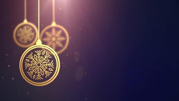 Zlaté pohybující cetka míč padající vánoční novoroční slavnostní sezónní Slavnost zástupný symbol modré pozadí