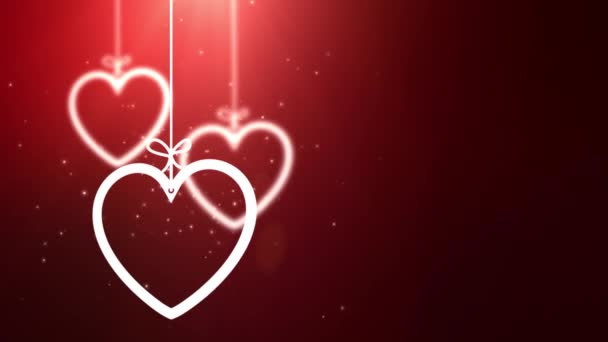 papír Valentin szív leesett, lógott a háttér piros string