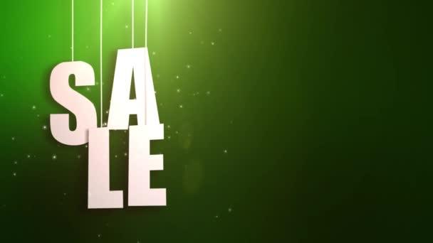 Werbebrief nur an Schnur mit schönem grünen Hintergrund aufgehängt
