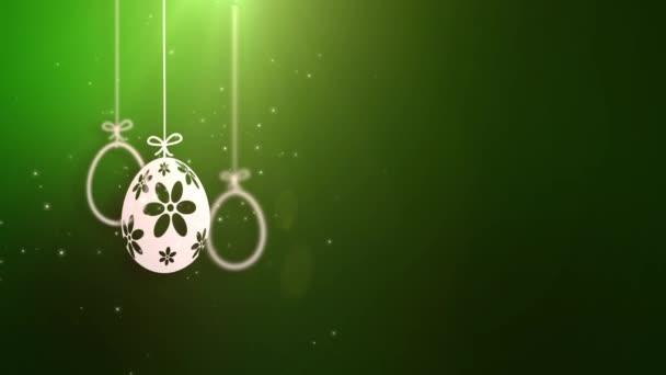fröhliche Osterpapier Ostereier mit grünem Hintergrund animiert.