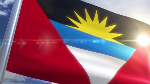 Waving flag of Antigua and Barbuda Animation