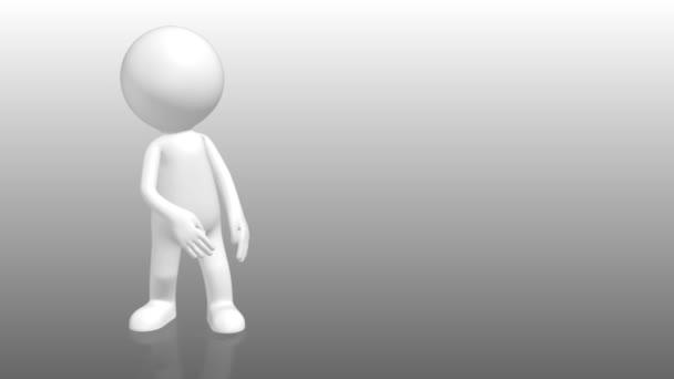 3D lidské postavy, přejdete na příkaz prázdný zástupný symbol s bílým pozadím