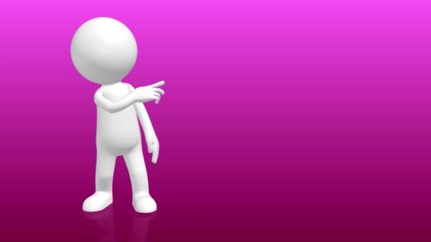 3D lidského charakteru, přejdete na příkaz prázdný zástupný symbol