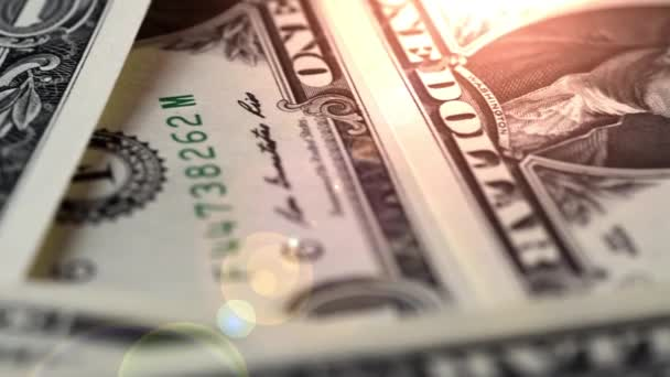 Dolarové bankovky, peníze pozadí. Dolarů peníze ležící na detailní portrét George Washington dřevěný stůl na účty