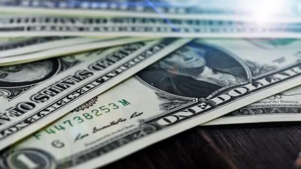 Býk a medvěd trhu koncept dolar zblízka animace