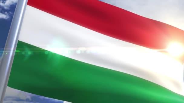 Magyar animáció hullámzó zászlaja