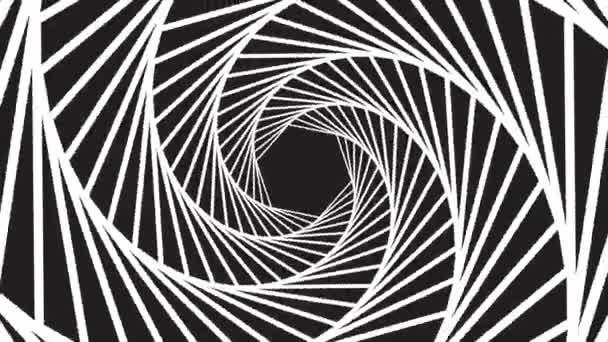 eine sich drehende hypnotische abstrakte Spiralschleife