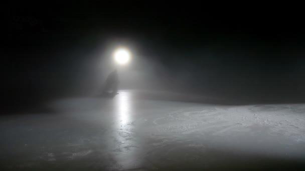Hokejový brankář Bruslení na ledu