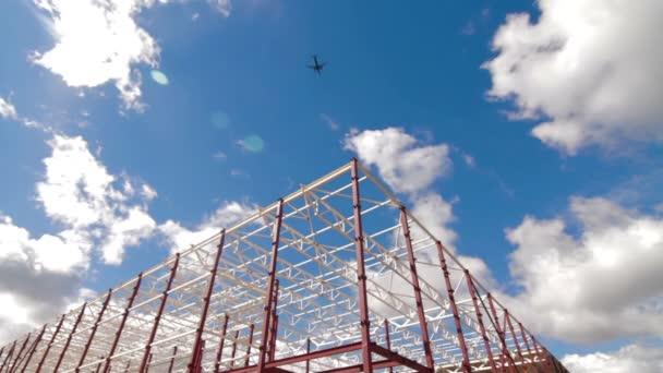 Új nagy raktár komplex repülőgép inb lue sky épületben
