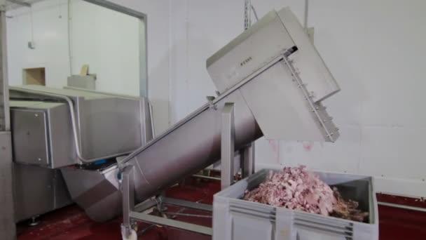 Ipari kolbász gyártási folyamat húst és kolbászt, így a növény