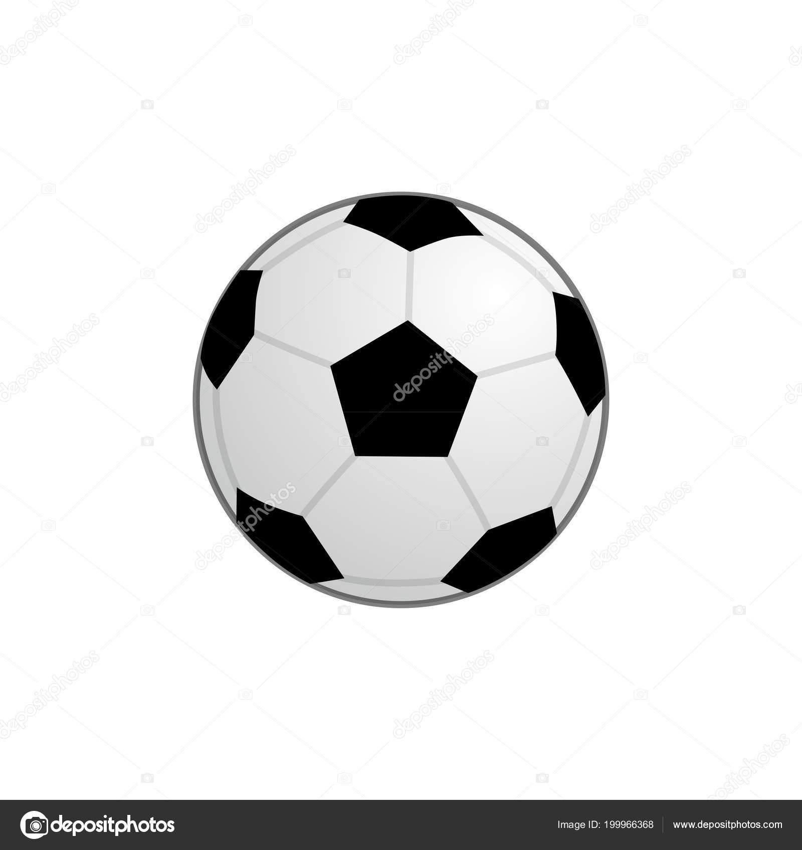 基本的なサッカー ボールのアイコン、ベクトル クリップ アート イラスト