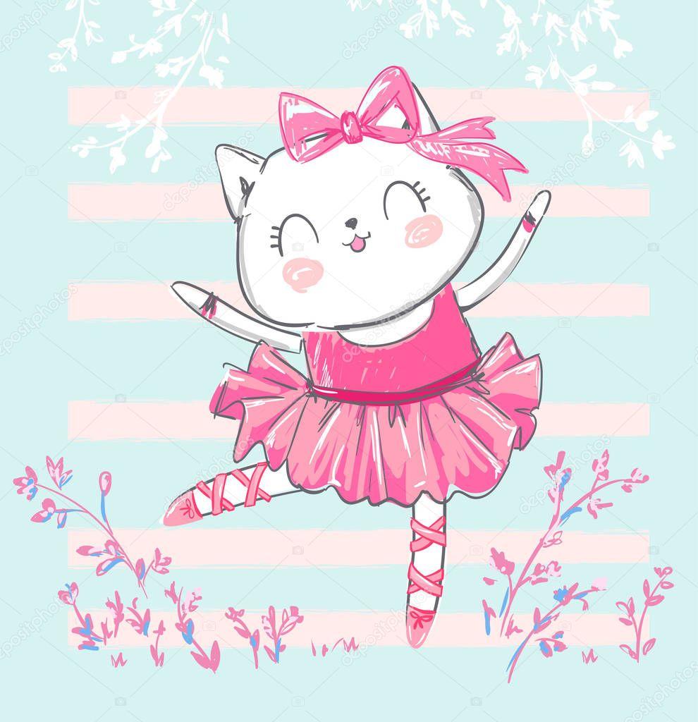 картинки кошка балерина коллектив министерства