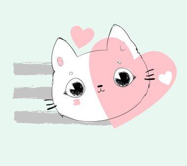 cool cat  illustration