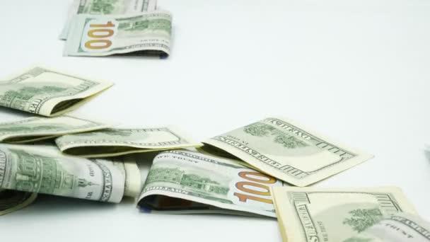 One hundred US banknotes. Cash. hundred dollar, 100 dollar