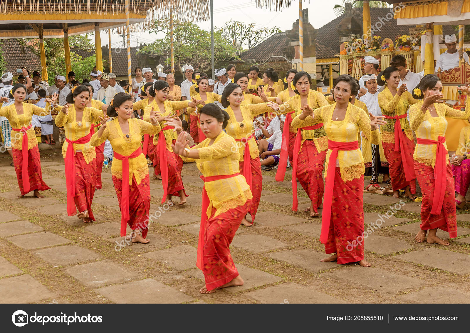 Bali Indonesia March 2018 Beautiful Indonesian People Group