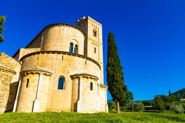 The St. Antimo Abbey near Montalcino in Tuscany
