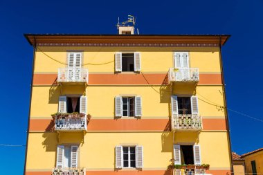 Building in summer in Rio nell'Elba, Tuscany, Italy