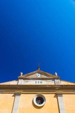 The Giacomo and Quirico Saints Church in Rio nell'Elba in summer, Italy