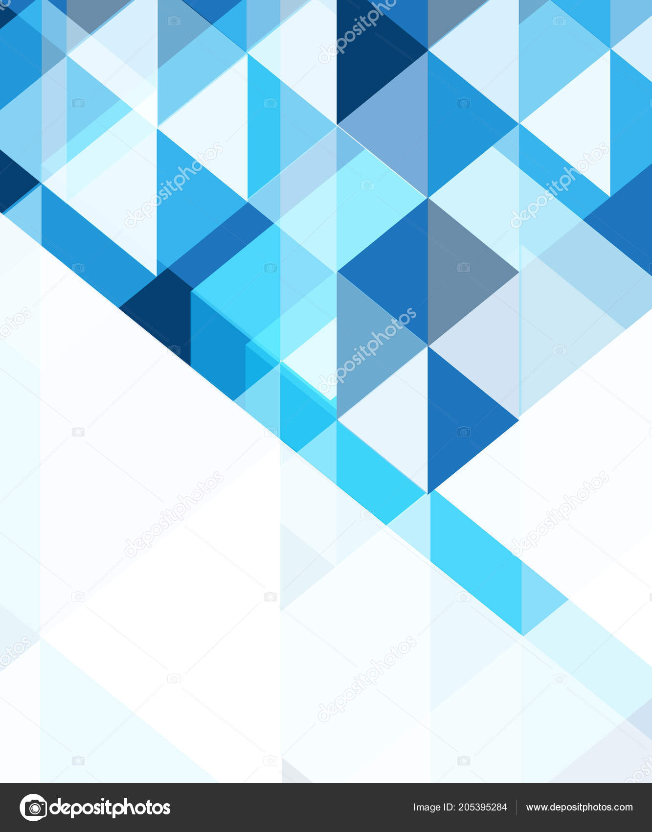 Blue Abstract Background Vector Design Stock Vector