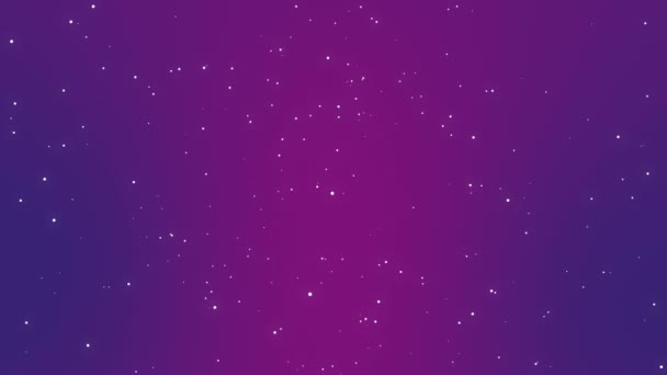Magical purple pink starry night sky background with glittering white  particle lights