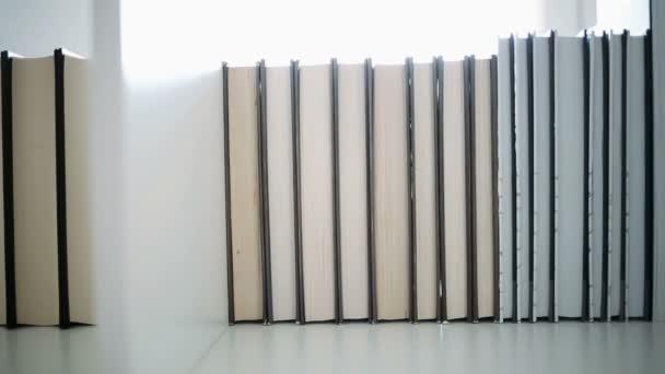 Books on a bookshelf. Library books
