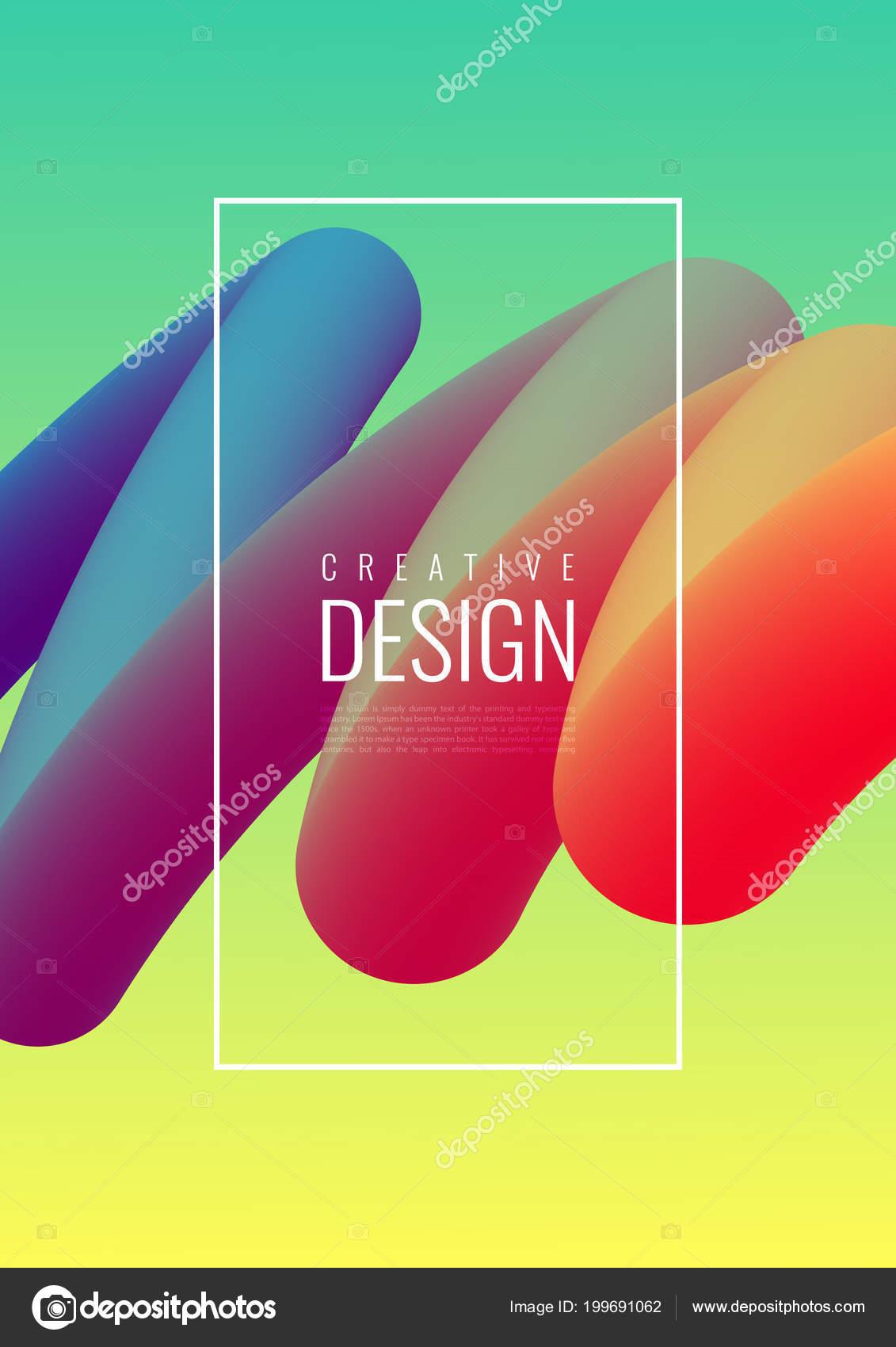 abstrakt 3d mischen von farben und linien — stockvektor