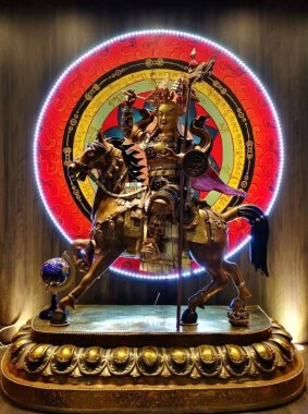 The Epic of King Gesar, is an epic cycle, of Tibet and greater Central Asia, believed to date from the 12th century.An ancient hero who was sent to heaven to vanquish monsters, depose the powerful, aid the weak, and unify disparate tribes.