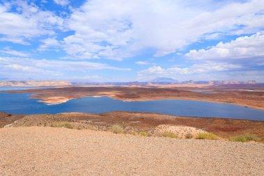 Panorama from Lake Powell, near Page, Arizona, USA. Open space landscape