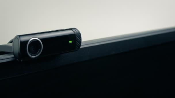 Webcam Het Scherm Office Slaapkamer — Stockvideo © FyreStock #199359934
