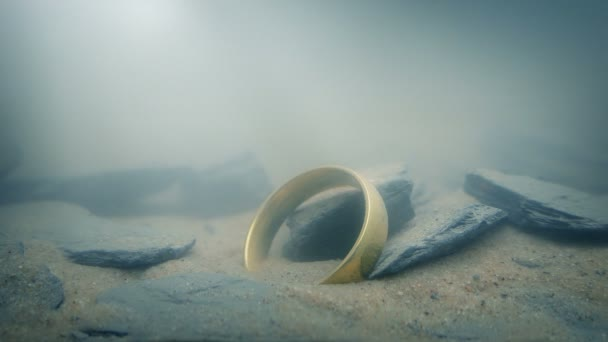 Ring On Lake Floor In Sun Rays