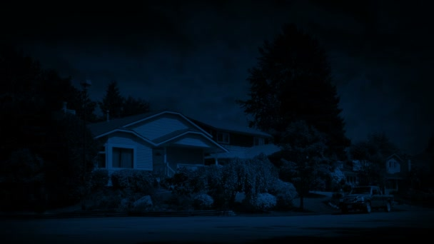 Suburbs At Night In Breeze