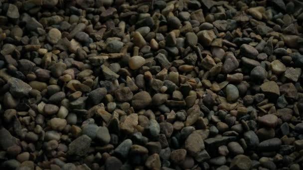 Předávání štěrku kameny Closeup