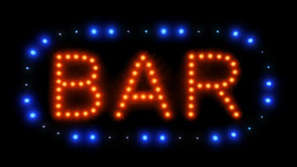 Neon bar sign moving lights stock video fyrestock 203247504 neon bar sign moving lights stock video aloadofball Image collections
