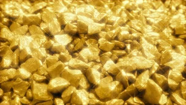 Jiskřivé hromadu zlaté nugety